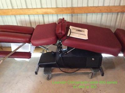 Leander Chiropractic Table 900 Series with Manual   PICK UP ONLY