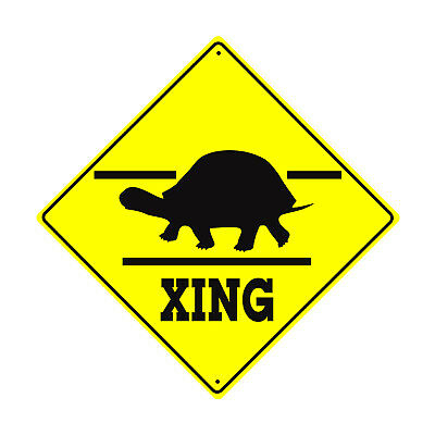 Slow Turtle Crossing >> Slow Turtle Crossing Symbol Animal Xing Metal Aluminum Novelty Sign