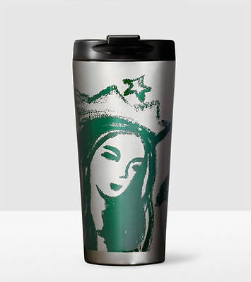 Brand NEW Starbucks Siren Mermaid STAINLESS STEEL TUMBLER 16oz.FlipTop Lid