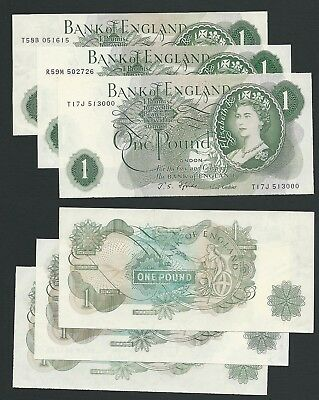 Great Britain     1 Pound      Lot of 3      1960-78          XF - AU