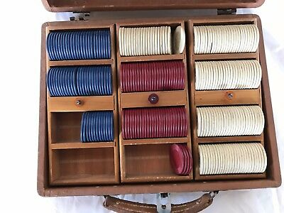 Old Clay Poker Set