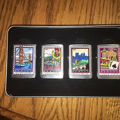 zippo vintage lighter lot Destination series SanFrancisco FrenchQuarter Vegas NY