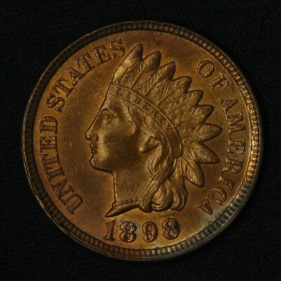 1898 Indian Head Cent -- Uncirculated with Mint Luster