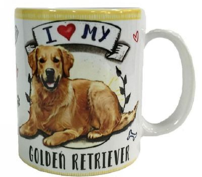 I Love my Golden Retriever Mug Dye Sub Ceramic Mug 8OZ