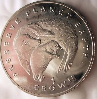 1994 ISLE OF MAN CROWN - AU/UNC - Animal Series - Low Mintage Coin - Lot #918