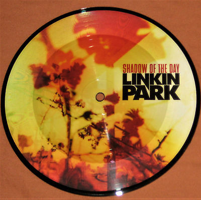 """Linkin Park Shadow Of The Day 7"""" Picture Disc Uk Disk Rare Warner Bros 45 Vinyl"""
