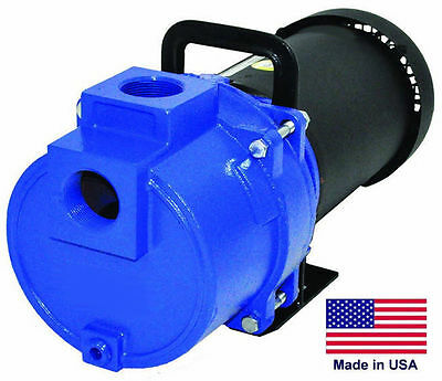 "SPRINKLER BOOSTER PUMP Commercial - 3 Hp - 1 Phase - 230V - 1.5"" Ports - 2 Stg"