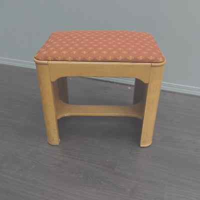 Art Deco Style Burr Wood Stool