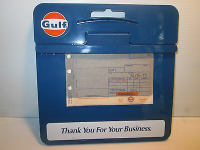 Gulf Oil Credit Card Clipboard  Mint  Nos With Blank 1973 Invoice