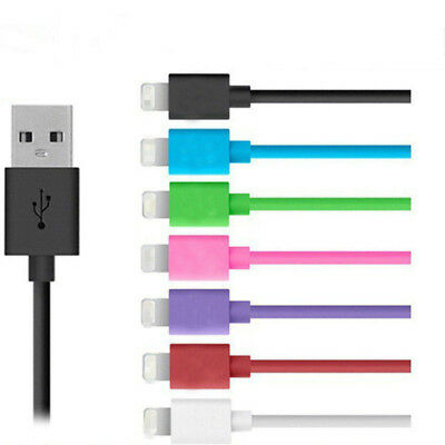 For iPhone 5S 6s 6/Plus 1M Flat Colorful Mini USB Sync Data Charger Cable Cord