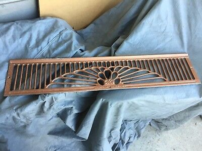 Antique Vintage Art Deco Fireplace Grate Vent