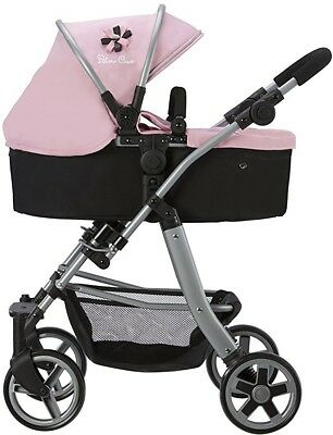 Dolls Pushchair Buggy Stroller Silver Cross Pioneer5 In 1 Vintage Pink Combo TOY