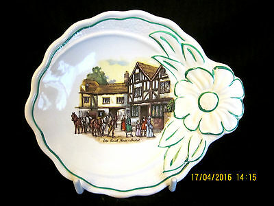 """~Vintage Old Foley """"coaching Days"""" Small Pin Dish With Trim - Vgc~"""