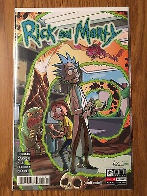 Rick And Morty Comic Issue #4 Variant Unread HTF First Print
