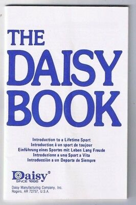 Daisy Rifle Book Part No 35406 5 Languages 32 pages