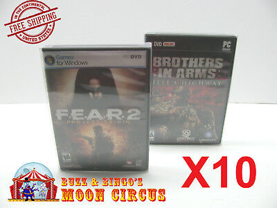 10X Pc Dvd Clear Protective Box Protectors -  Archival Quality - Free Shipping!