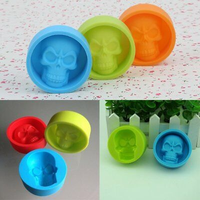 Funny Skull Shaped Silicone Cake Chocolate Ice Tray Mold Cake Moulds Tools