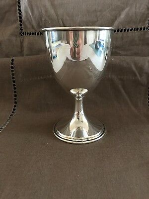"""Antique William R. Elfers NYC 5.25"""" Sterling Silver Cup w/monograms"""