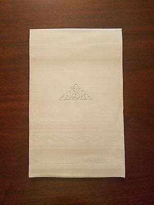 """12 ANTIQUE IRISH LINEN FORMAL NAPKINS by WILLIAM COULSON & SONS 21.5"""" X 37.5"""""""
