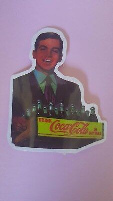 RETRO COCA-COLA sticker decal car wall unused unstuck quality 8 X 6.5 cm