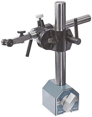 Brown & Sharpe Magnetic Base Upright and Hoding Rod for Dial Test Indicators