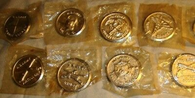1940s Cracker Jack Prize Lot - of 8 US Army Pins - Badges.