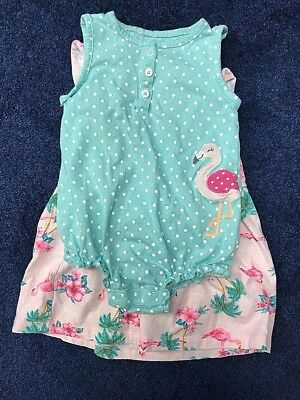 Carters Baby Girls 2 Piece Floral Dress and Polka-dot Bodysuit Set 18 Months NEW
