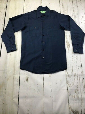 New REED Industrial Navy Work Shirt Long Sleeve 100% Cotton  IN PACKS of 1or 2