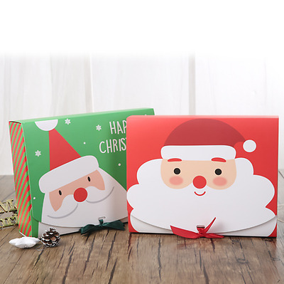 High Quality Xmas Christmas Eve Gift Box Favour Present Gifts Candy Boxes New