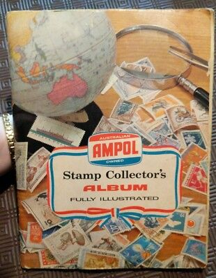 Ampol Stamp Collectors Album with LOTS of World stamps