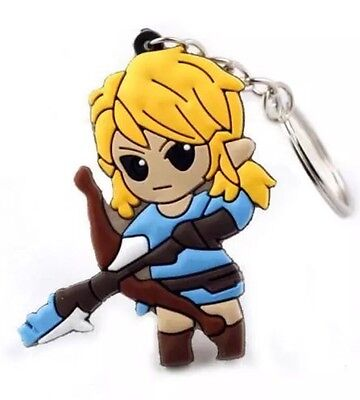 """The Legend of Zelda Breath Of The Wild Link Keychain Bow & Arrow 2"""" US Seller"""