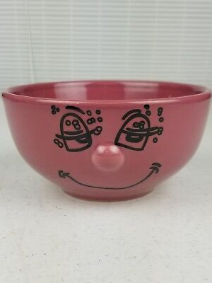 """Dolce Vita - Home Collection Mauve Pink """"HAPPY FACE"""" Bowl"""