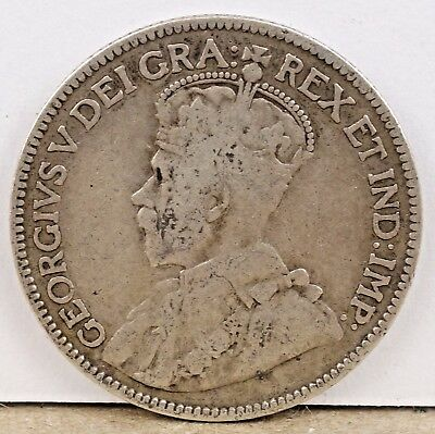 1914 Canada George V - 25 Cents Silver!