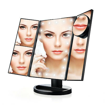 USB TG Vanity Makeup Countertop Cosmetic Mirror 21Led Lighted with Touch Screen