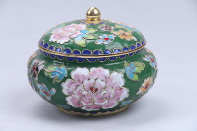 Collection Exquisite Chinese Cloisonne handwork flower pot aa903