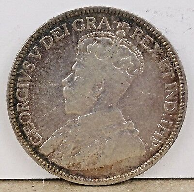 1912 Canada George V - 25 Cents Silver!