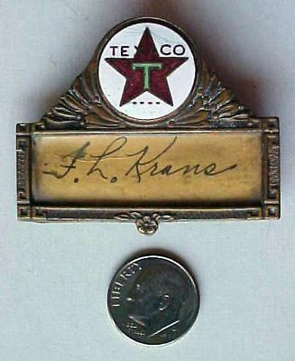 Early TEXACO OIL CO Service Station Employee NAME BADGE