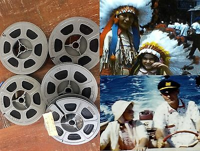 Vintage 8MM Home FILM Movies 1950 - 60 color COMES WITH WITH DIGITAL COPIES!!