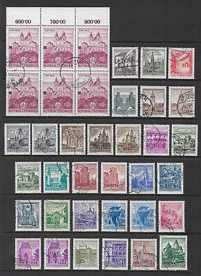 AUSTRIA - 1957 Buildings, incl 20s block of 6, used