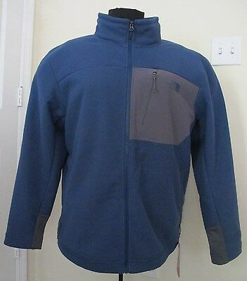 The North Face Men's 'Chimborazo' Zip Front Fleece Blue Jacket - LARGE - NWT