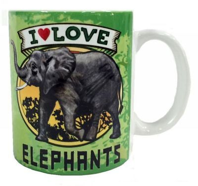 I Love Elephant Mug Dye Sub Ceramic Mug 8OZ