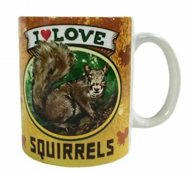 I Love Squirrel Mug Dye Sub Ceramic Mug 8OZ