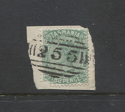 TASMANIA - nice example of BN255 used at DUNORLAN on 2d QV franked piece