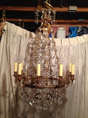 37in tall CRYSTAL CHANDELIER BY CHELSEA HOUSE #3262 PURCHASED IN JULY 2000