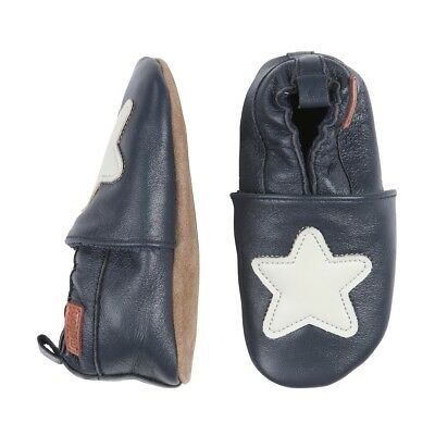 Melton Krabbelschuhe Star blue nights