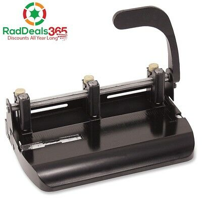 Officemate Heavy Duty Adjustable 2-3 Hole Punch with Lever Handle, 32-Sheet Cap