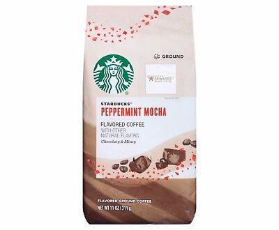 Starbucks Peppermint Mocha Ground Coffee 11 Oz . Limited Edition Free World Ship