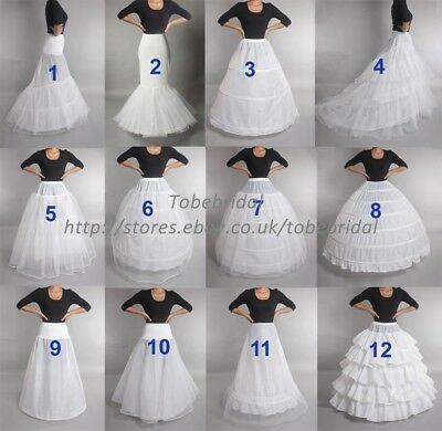 Wedding Petticoat Crinoline Slip Underskirt Bridal Dress Hoop Vintage Slips
