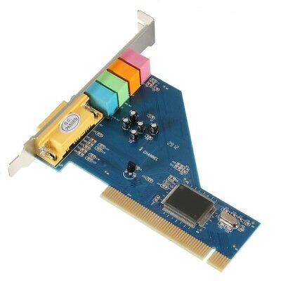 4 Channel 8738 Chip 3D Audio Stereo PCI Sound Card Win7 32/64 bit New