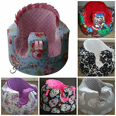 HANDMADE BUMBO SEAT COVER  with or without holes for straps, baby shower,gift